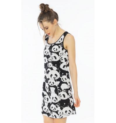 Dámská noční košile na ramínka Pandy