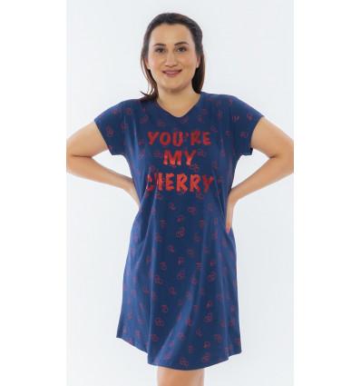 Dámská noční košile s krátkým rukávem Cherry