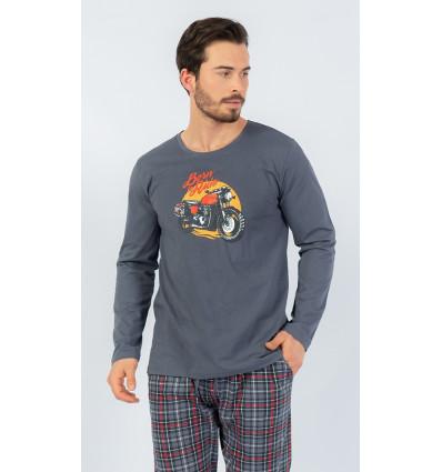 Pánské pyžamo dlouhé Motorka
