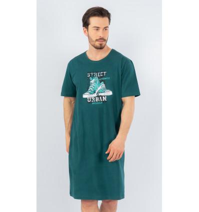 Pánská noční košile s krátkým rukávem Tenisky