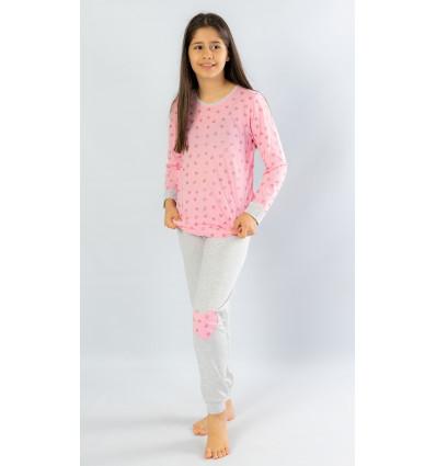 Dětské pyžamo dlouhé Srdíčko