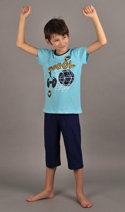 Dětské pyžamo bermudy Gól Vel  1 - 2 Barva tyrkysová