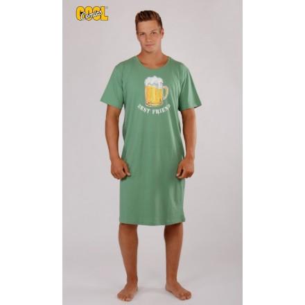 Pánská noční košile s krátkým rukávem Pivo